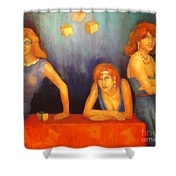 Game Table  Shower Curtain by Dagmar Helbig
