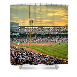 Fenway Park Shower Curtain by Mike Ste Marie