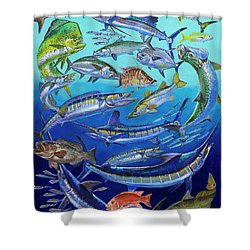 Gamefish Collage In0031 Shower Curtain