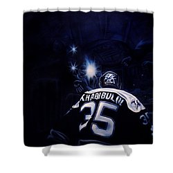 Gametime Shower Curtain by Marlon Huynh