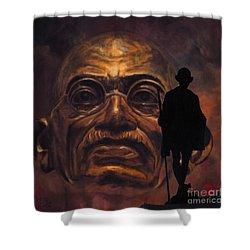 Gandhi - The Walk Shower Curtain by Richard Tito