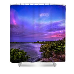 Gandy Lagoon 2 Shower Curtain by Marvin Spates