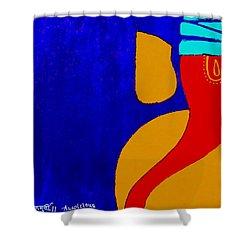 4 Ganesh Mangalmurti Shower Curtain