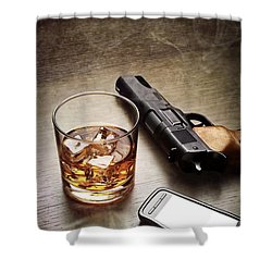 Gangster Gear Shower Curtain by Carlos Caetano