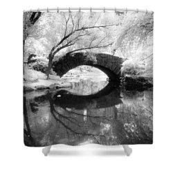 Central Park Photograph - Gapstow Bridge Vertical Shower Curtain
