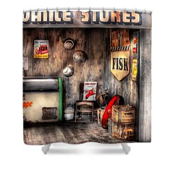 Garage - Advance Stores  Shower Curtain by Mike Savad