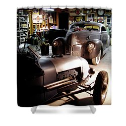 Garage Tour Shower Curtain by Alan Johnson