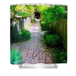 Garden Alley Shower Curtain by Brian Wallace