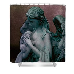 Forest Angel 3 Shower Curtain