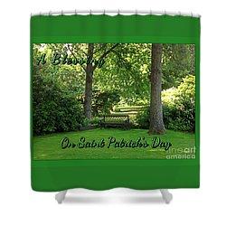 Garden Bench On Saint Patrick's Day Shower Curtain