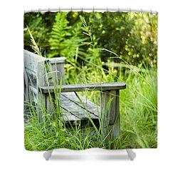 Garden Bench Shower Curtain