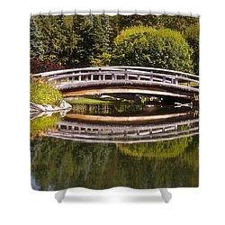 Garden Bridge Shower Curtain by Linda Bianic