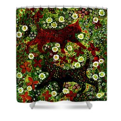 Garden Cats Shower Curtain