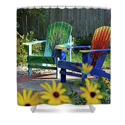 Garden Chairs Shower Curtain by First Star Art