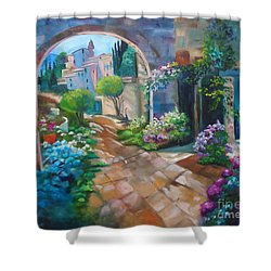 Garden Courtyard Shower Curtain