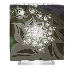 Shower Curtain featuring the digital art Garden Echos by Elizabeth McTaggart