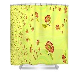 Shower Curtain featuring the digital art Garden Feng Shui by Digital Feng Shui