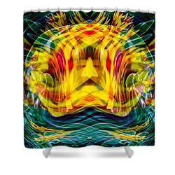 Shower Curtain featuring the painting Garden Flowers by Omaste Witkowski