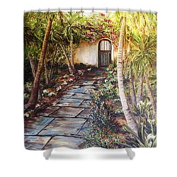Garden Gate To Rosemary's Cottage Shower Curtain