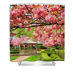 Garden Gazebo Shower Curtain