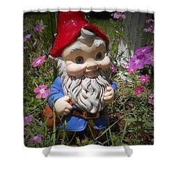 Garden Gnome Shower Curtain by Judy Hall-Folde