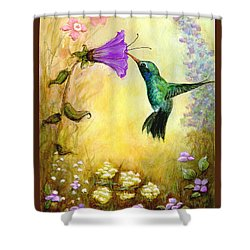 Garden Guest In Brown Shower Curtain by Terry Webb Harshman