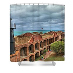 Garden Key Light Shower Curtain by Adam Jewell