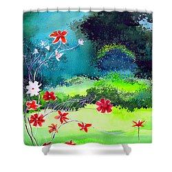 Garden Magic Shower Curtain by Anil Nene