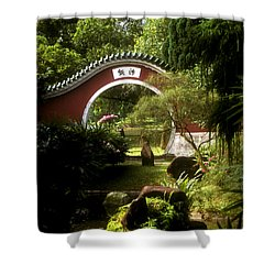 Garden Moon Gate 21e Shower Curtain