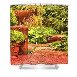 Garden Shower Curtain by Muhie Kanawati