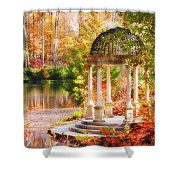 Shower Curtain featuring the photograph Garden Of Beauty by Trina  Ansel
