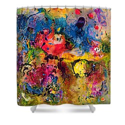 Garden Of Heavenly And Earthly Delights Shower Curtain by Jane Deakin