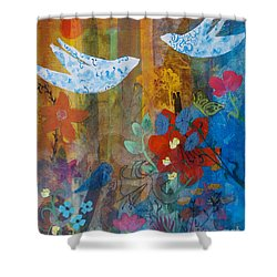 Garden Of Love Shower Curtain by Robin Maria Pedrero