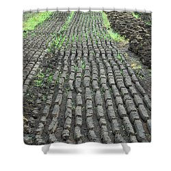 Shower Curtain featuring the photograph Garden Of Peat by Brenda Brown