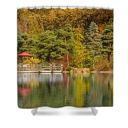 Shower Curtain featuring the photograph Garden Of Reflection by Sebastian Musial
