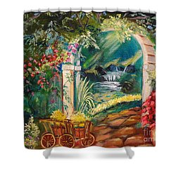 Garden Of Serenity Beyond Shower Curtain