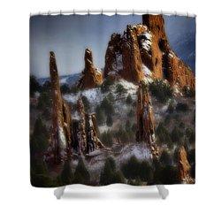 Shower Curtain featuring the photograph Garden Of The Gods by Ellen Heaverlo