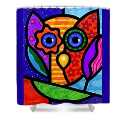 Garden Owl Shower Curtain