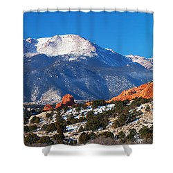 Garden Pano Shower Curtain by Darren  White