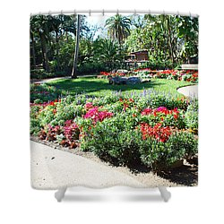Garden Park Shower Curtain by Aimee L Maher Photography and Art Visit ALMGallerydotcom
