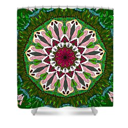 Shower Curtain featuring the digital art Garden Party #2 by Elizabeth McTaggart