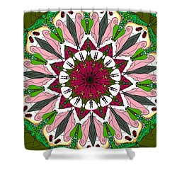 Shower Curtain featuring the digital art Garden Party by Elizabeth McTaggart