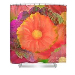Garden Party IIi Shower Curtain by Christine Fournier