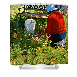 Garden Party In Park Sierra-ca Shower Curtain by Ruth Hager