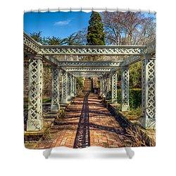 Garden Path Shower Curtain by Adrian Evans