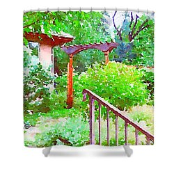 Garden Path With Arbor Shower Curtain