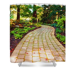 Shower Curtain featuring the painting Garden Path by Michelle Joseph-Long