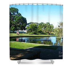 Shower Curtain featuring the photograph Sydney Botanical Garden Lake by Leanne Seymour