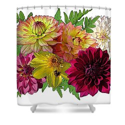 Shower Curtain featuring the digital art Garden Scents by I'ina Van Lawick