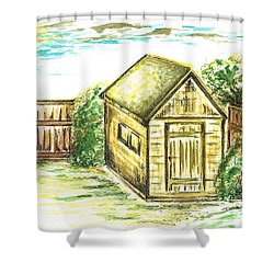 Garden Shed Shower Curtain by Teresa White
